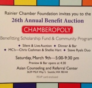 Rainier Chamber of Commerce Foundation Annual Auction 2013