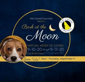 NW Canine Coalition's Bark at the Moon Virtual Gala 2020