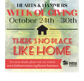 Habitat for Humanity of Ventura County Hearts & Hammers Week of Giving 2020