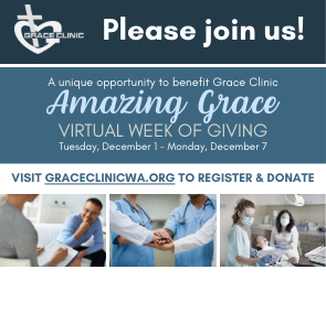 Grace Clinic's Amazing Grace Virtual Week of Giving 2020