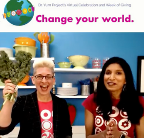 Dr. Yum Project's Eat Well Change Your World Week of Giving 2021